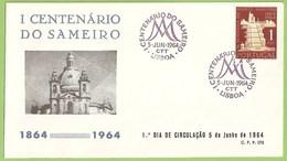 Braga - Envelope Comemorativo - I Centenário Do Sameiro, 1964 - Filatelia - Philately - Portugal