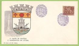 Setúbal - 1º Salão De Filatelia E Numismática, 1958 - Envelope Comemorativo - Philately - Portugal