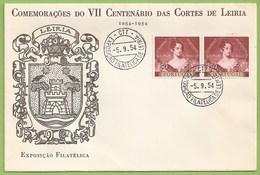 Leiria - Comemorações Do VII Centenário Das Cortes De Leiria - Exposição Filatélica - Envelope Comemorativo - Filatelia - Portugal