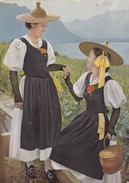 Postcard Costumes Suisses Ct De Vaud Fete Day Costume   My Ref B21995 - Fashion
