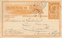 CONGO BELGE / BELGISCH CONGO -  1911 , LUKAFU - Ganzsachen