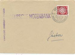 GREIFSWALD - 1956 , DEUTSCHE NOTENBANK , Dienstbrief Nach Güstrow - Dienstpost