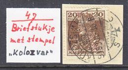 ROMANIAN  OCCUP. HUNGARY  TRANSYLVANIA ( CHUJ) 129    (o)  Cd.  KOLOZVAR - Transylvania