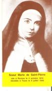 Soeur Marie De Saint-Pierre Nee A Rennes Le 4 Octobre 1816  Decedee A Tours Le 8 Juillet 1848 - Devotion Images