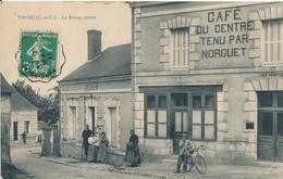 Thoré (41 Loir Et Cher) Le Bourg Centre Le Café Du Centre Et La Poste - édit Huron à Thoré Phot. DB Oblit Convoyeur 1911 - Altri Comuni