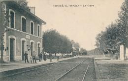 Thoré (41 Loir Et Cher) La Gare - édit Michaud à Thoré Circulée En 1918 - Altri Comuni