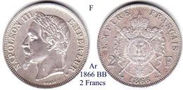 F-1866 BB, 2 Francs - I. 2 Franchi