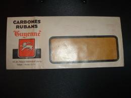 "LETTRE EMA K 0245 à 1.20 Du 2 MARS 42 BAGNOLET (93) CARBONES RUBANS ""Guyenne"" - Postmark Collection (Covers)"