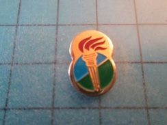 Pin1415b Pin's Pins / Beau Et Rare : FLAMBEAU FLAMME JEUX OLYMPIQUES   Marquage Au Dos : - ---  - - Olympic Games