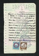 Egypt 2 Revenue Stamps On Used Passport Visas Page - Unclassified