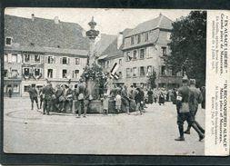 CPA - EN ALSACE LIBEREE - Grande Place De MASSEVAUX - Après La Revue Franco-américaine Du 4 Juillet 1918, Très Animé - Guerre 1914-18