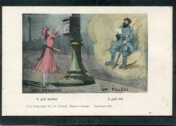 CPA - Illustration - UNE MARRAINE - UN FILLEUL - Guerre 1914-18
