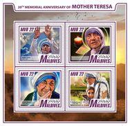 Maldives. 2017 Mother Teresa. (906a) - Mother Teresa