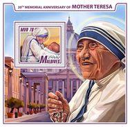 Maldives. 2017 Mother Teresa. (906b) - Mother Teresa