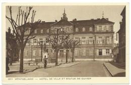CPA MONTBELIARD / DOUBS / HOTEL DE VILLE ET STATUE DE CUVIER / - Montbéliard