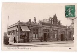 94 VAL DE MARNE - VINCENNES La Gare, Traitée En Carte Photo - Vincennes