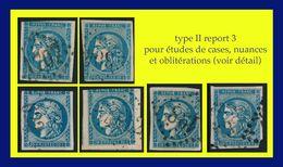 N° 45C II REPORT 3 CÉRÈS ÉMISSION DE BORDEAUX 1870 - OBLITÉRÉS ST / 2e CHOIX (VOIR LE DÉTAIL) - 1870 Emisión De Bordeaux