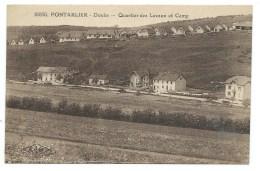 CPA PONTARLIER / QUARTIER DES LAVAUX ET CAMP - Pontarlier