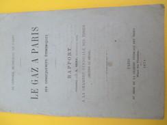 """Monographie/""""Le Gaz à Paris""""/ Conséquences économiques /Conseil Municipal De Paris/Ch Synd Des Tissus/1879    MDP67 - Historical Documents"""