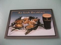 Conchiglia Shell OSTRICHE E BIRRA GUINNESS AN IRISH BREAKFAST IRLANDA - Poissons Et Crustacés
