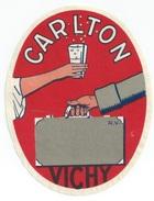 03 - VICHY -  Luggage Label étiquette - HOTEL CARLTON - (40X85 Mm) - Etiquettes D'hotels