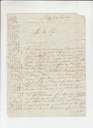 Vieille Lettre De POUILLY Nievre  Le 2 Juin 1817   Pour AILLY Marne - Manuscrits