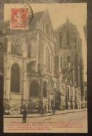 Dreux - Eglise St Pierre - Animée Avec Vélos - Timbre Semeuse 10c YT N°135 Seul - Cachet 1913 - Dreux