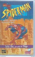 "VHS / K7 Vidéo  -  SPIDER-MAN ""  SPIDER-MAN EST PRIS AU PIEGE  ""  MARVEL ( SPIDERMAN ) - Dibujos Animados"