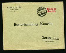 A4957) DR Infla Brief Cottbus 15.9.23 Mit Barfrankierung - Briefe U. Dokumente