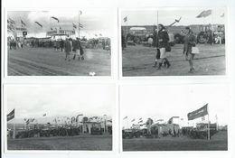 4 Photos D'une Foire Avec Tracteurs Probablement Dans Le Calvados Où La Vienne (13.7 X 8.9 Cm Env.) - Autres Communes