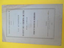 """Délibération/""""La Question Du Rachat Des Ch De Fer Par L'Etat/Paris-Orléans/ Trib. De Com./Aurillac /CANTAL/1880    MDP72 - Historical Documents"""