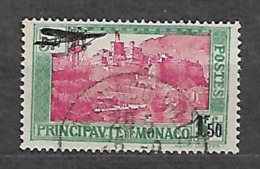 MONACO YVERT PA 1 VF USED. AVION. - Poste Aérienne