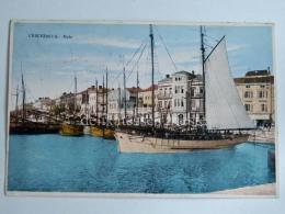 CIRQUENIZZA CRIKVENICA Dalmazia Vecchia Cartolina Molo Veliero AK Croazia - Croazia