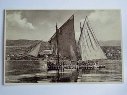 CIRQUENIZZA CRIKVENICA Dalmazia Vecchia Cartolina Barca Vela Pescatore AK Croazia - Croazia