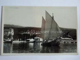 CIRQUENIZZA CRIKVENICA Dalmazia Vecchia Cartolina Bragozzo Barca Vela AK Croazia - Croazia