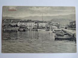 CIRQUENIZZA CRIKVENICA Dalmazia Vecchia Cartolina Barche Pescatori Barca Vela AK Croazia 1237 - Croazia