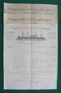 Trois Documents à Entête De La Compagnie Générale Transatlantique - Année 1890 - Transports