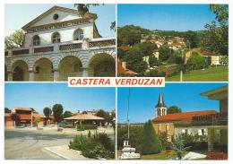 CP CASTERA VERDUZAN, ETABLISSEMENT DES THERMES, VUE GENERALE, CENTRE COMMERCIAL, VUE SUR LE CLOCHER, GERS 32 - Castera