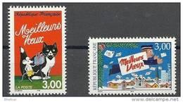"FR YT 3123 & 3125 "" Meilleurs Voeux "" 1997 Neuf** - France"