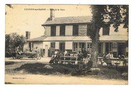 CPA 10 LUSIGNY SUR BARSE Café De La Gare - France