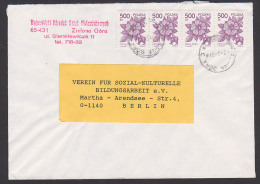 Zielona Gora Grünberg Brief Nach Berlin Mit Gez. Marken Porto 2.000 Zl. An Bildungsarbeit E.V. - 1944-.... Republic