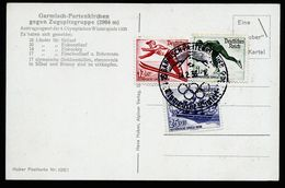 A4959) DR Sonderkarte Winterolympiade 1936 Mit Mi.600-602 - Briefe U. Dokumente