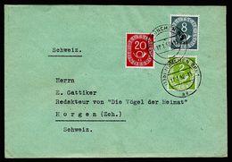 A4960) Bund Brief Von München 17.1.52 Mit Mi.127 Ua. - Storia Postale