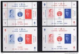 Bloc Marigny 1990 Dentelé Et Non Dentelé De Gaulle - CNEP