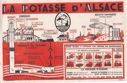 BUVARD ,,,,,LA POTASSE  D' ALSACE,,,,,,24x 18 Cm - Farm