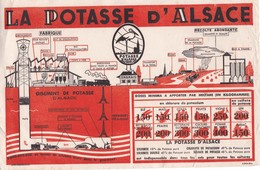BUVARD ,,,,,LA POTASSE  D' ALSACE,,,,,,24x 18 Cm - Agriculture
