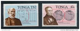 Tonga 1984 MNH 2v S-A, Odd Stamps, Prime Meridian, Fleming, George Airy, Pioneer Of Time Zones - Clocks