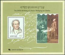 Korea South 1999, Johann Wolfgang Von Goethe Block Mi.# 660, MNH / ** - Korea, South