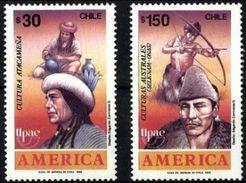Chile 0923/924 ** MNH. 1989 - Chile