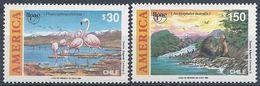 Chile 1003/1004 ** MNH. 1990 - Chile